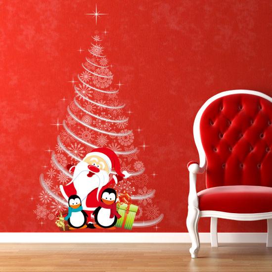 china christmas santa claus promotion gift shopwindow window wall