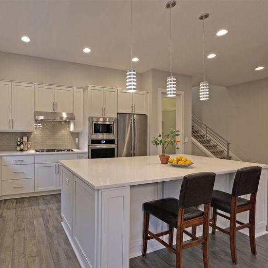 Modern White Shaker Kitchen Cabinets in Matt Finish