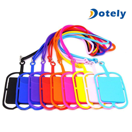 pretty nice c02ab fab0e Smart Cell Phone Lanyard Case Cover Credit Card Holder Silicone Necklace  Strap