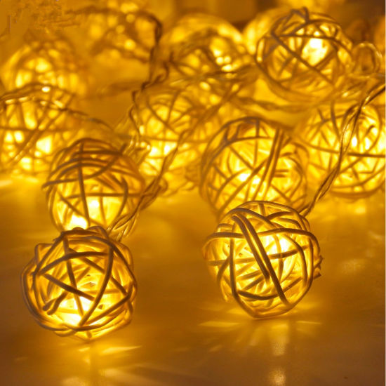 Decorate Colorful Bubble Outdoor Christmas LED Solar Garden String Light