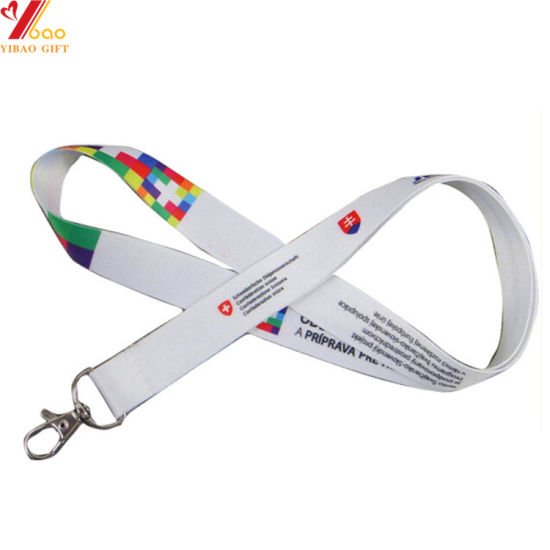 Cmyk Printing Logo Woven Lanyard Plastic Clip Attachments Ribbon Promotion Gifts Top Design Sublimation Lanyards with Custom Logo