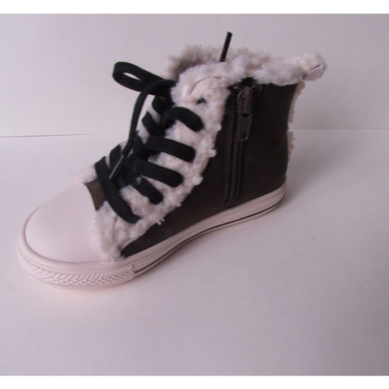 New Model Fashionable Leather Kids Shoes Warm Shoes