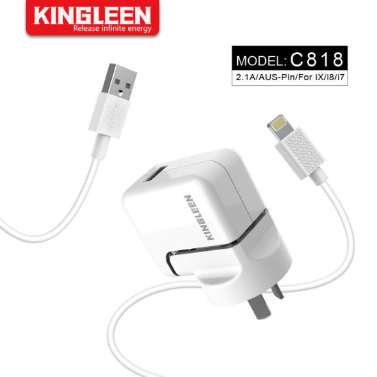 3FT/1m Lightning Charging Cable + 2.1A Dual USB Wall Adapter Charger Kit for iPhone X 8 7 6 Plus