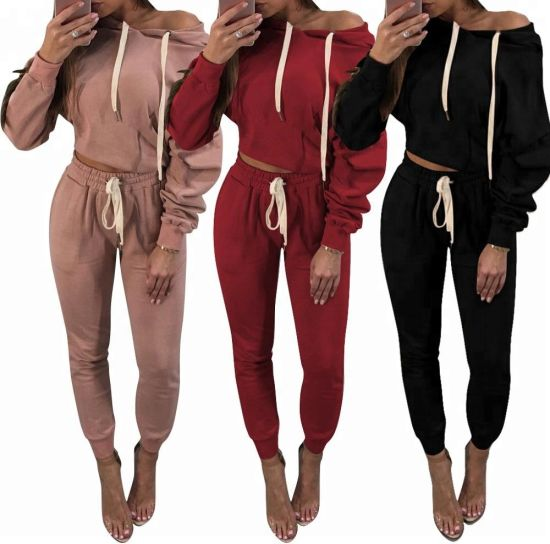Women Tops Pants Casual Tracksuit