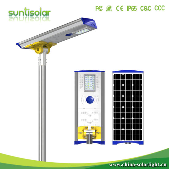 40W All in One Solar Street Light with Lithium Battery Replaceable