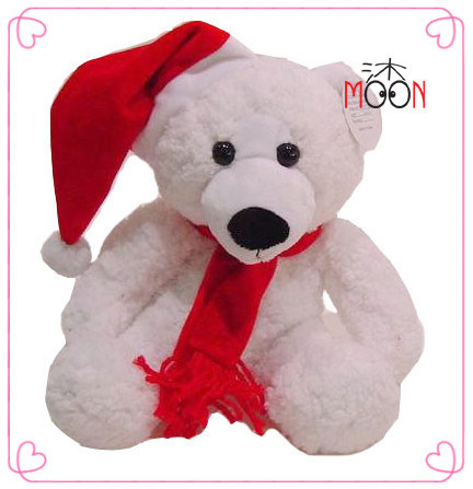 Christmas Plush Bear with Red Hat