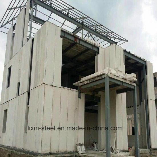 Prefabricated Alc Panel Steel Structure Frame Building Villa Prefab House