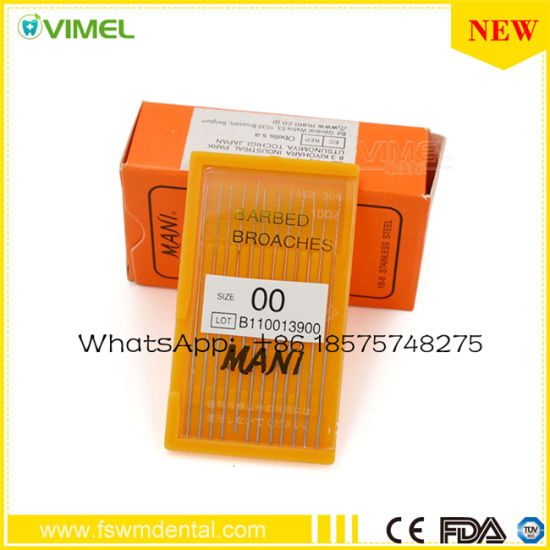 Dental Barbed Broaches Root Canal Endo Files Dental Materials Supply