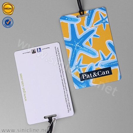 Sinicline Popular Fancy PVC Hang Tag for Men's Swim Wear and Promotion Apparel