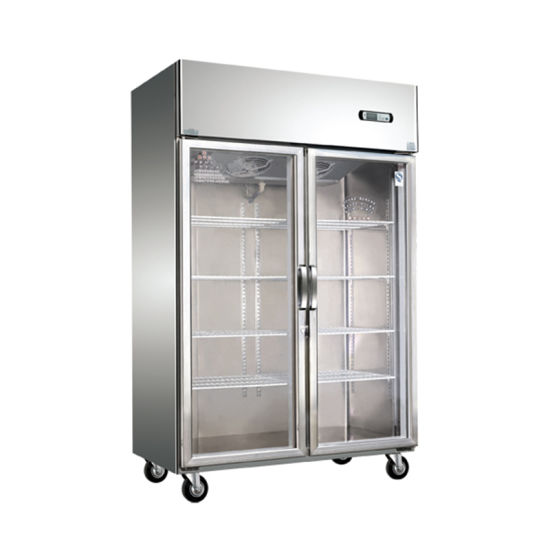Air Cooling Transparent Glass Door Commercial Refrigerator/Kitchen Freezer pictures & photos