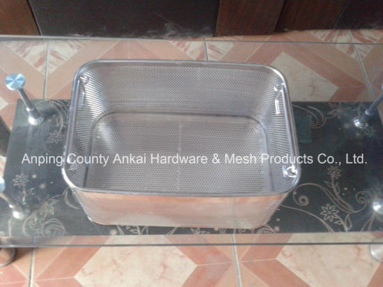 Perforated Metal Basket with Lid pictures & photos