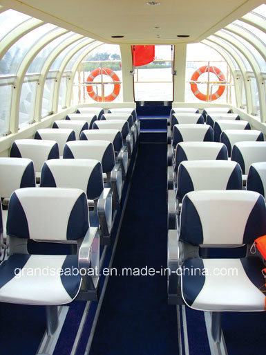 28seats Fiberglass River Water Taxi Boat for Sale pictures & photos