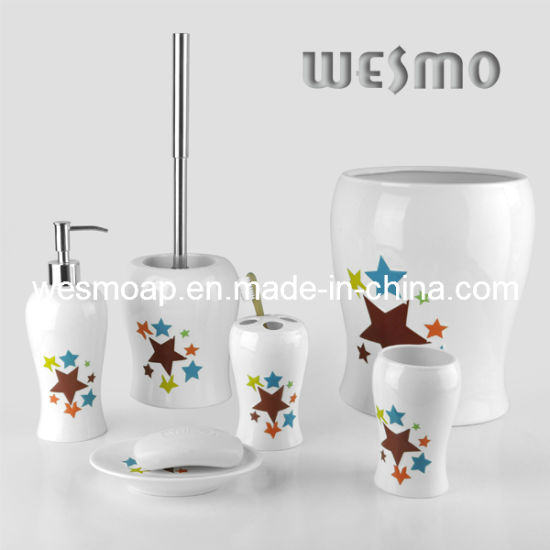 China Porcelain Bath Accessories Set with Stars Decal (WBC0501A ...