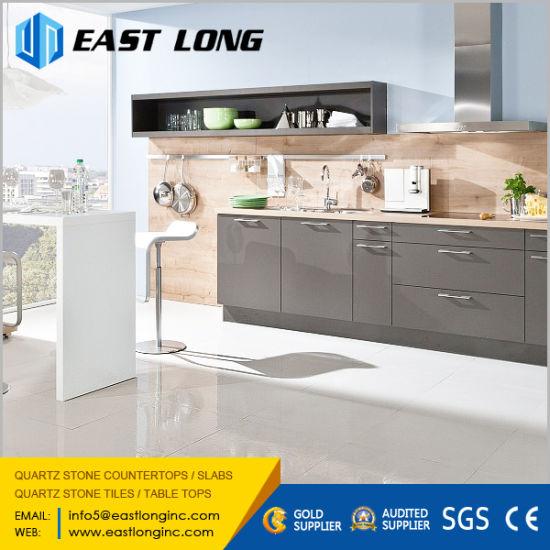 Polished White/Black/Yellow/Grey Quartz Stone Tiles for  Flooring/Wall/Kitchen Design