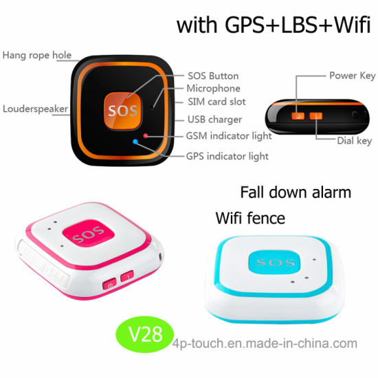 2018 IP66 Waterproof Mini GPS Tracker with WiFi+GPS+Lbs+Agps V28 pictures & photos