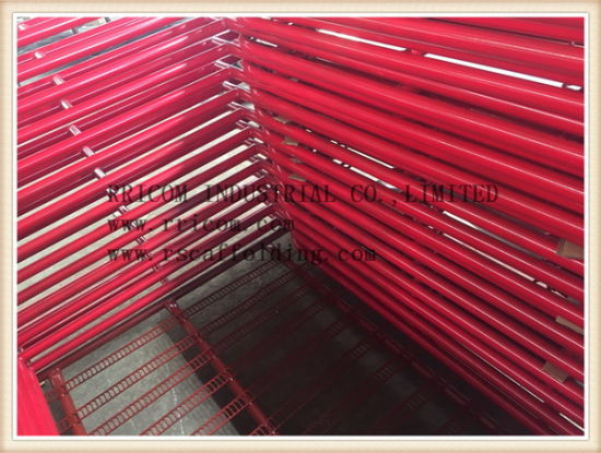 Red Painting Walk Thru Type Scaffolding Frames pictures & photos