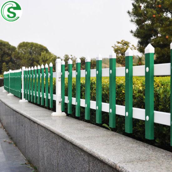 PVC Vinyl Picket Fence White Plastic Fence for Grass