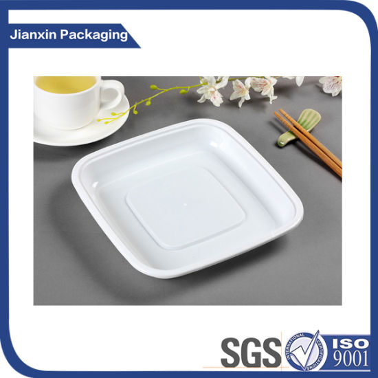 Disposbale Square White Plastic Plate pictures & photos