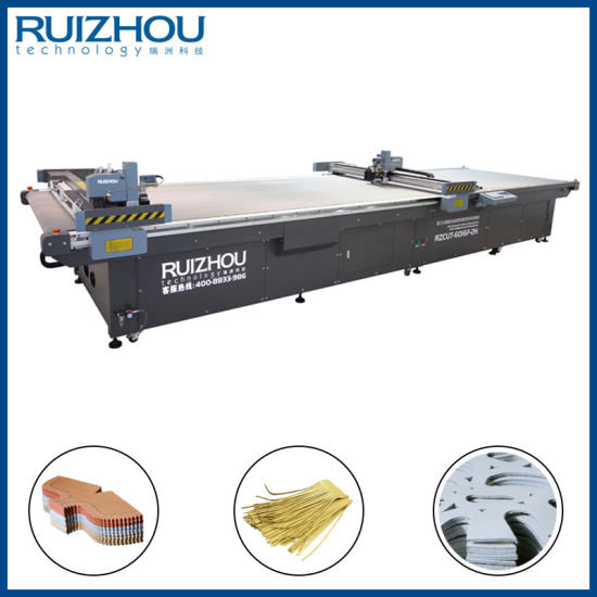 CNC Oscillating Knife Leather Cutting Machine pictures & photos