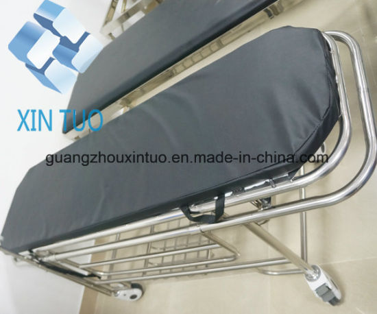 Ce ISO Approved Aluminum Adjustable Emergency Trolley Bed