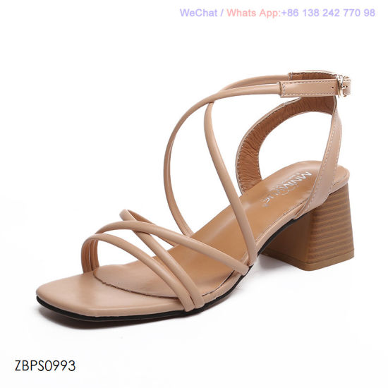 755045d38244 China Womens Sandals Low Heel Block Cuff Peep Toe Court Shoes ...