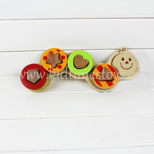 Children Educational Wooden Caterpillar Building Blocks pictures & photos