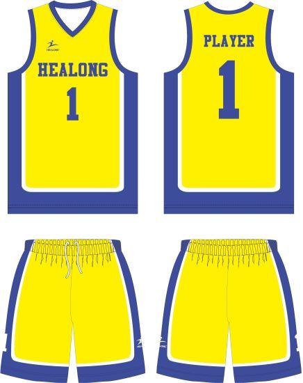 Healong Sportswear Custom Sport Wear Sublimation Men's Basketball Jerseys