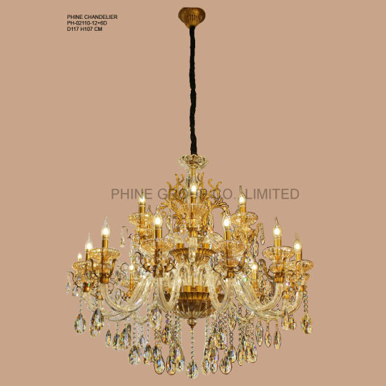 Modern Clear Crystal Decoration Pendant Lighting with Fabric Shade Fixture Lamp Chandelier Light Phine pH-0814z 6 6~8~15arms pictures & photos