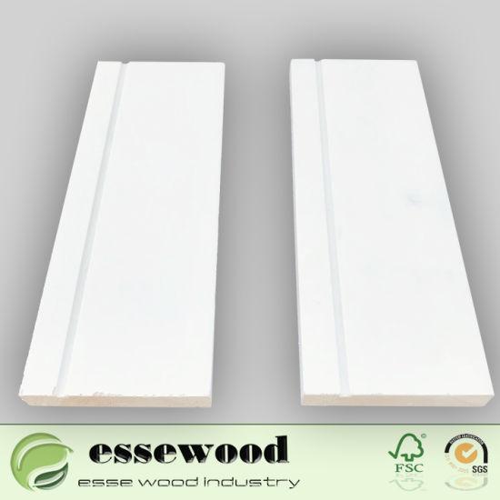 China White Primes Wood Decorative Trim Door & Window Frame Moulding ...