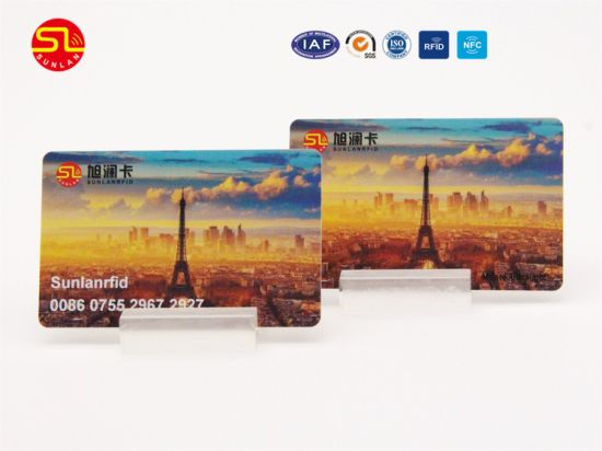 Free Sample Low Cost Contactless Smart Card Mf1 1k RFID Card/ M1 S50 Card/Ntag 213/215/216/Icode 2 Card//DESFire EV1 2k/4k/8k Smart Card/NFC Card pictures & photos