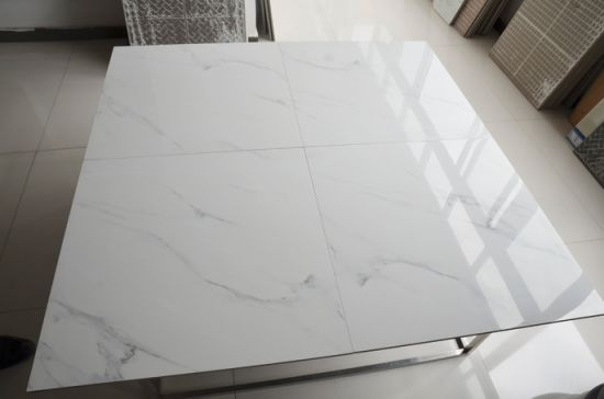 White Colors Of Tumbled Marble Kerala Vitrified Floor Tiles