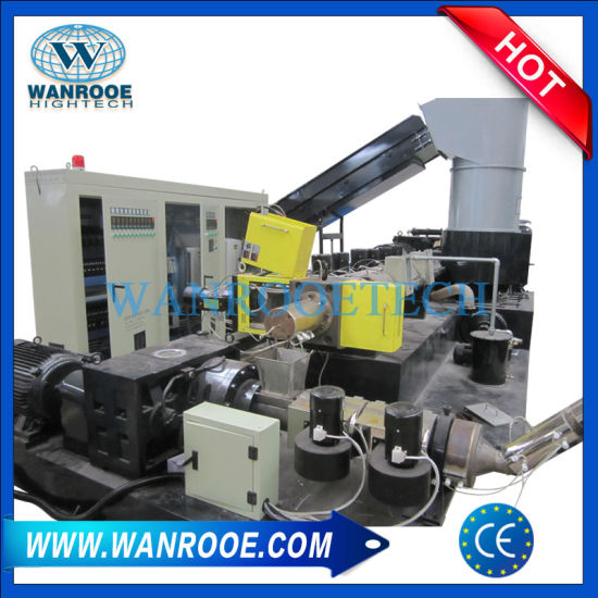 Plastic Film Recycling Extruder Machine Granulating Production Line