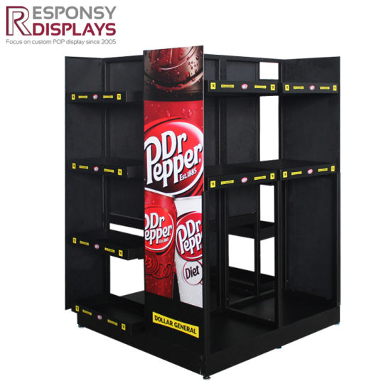 Customized Floor Metal Energy Drink Display Beverages Display Racks pictures & photos