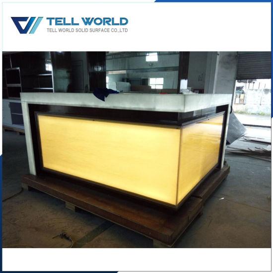 China Modern Home Bar Counter Solid Surface Bar Counter Design ...