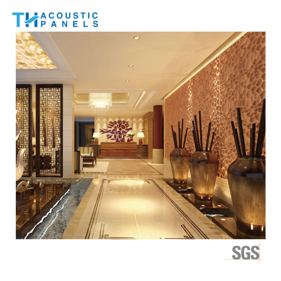 china interior decoration polyester fiber 3d sound proof acoustic