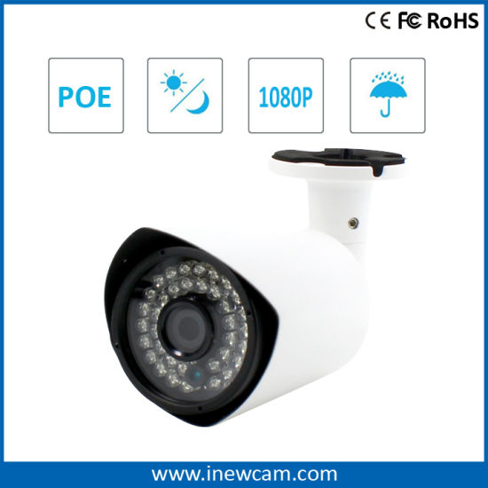"Facotry 1/3"" CMOS Poe 2MP 1080P Mini Bullet IP Camera pictures & photos"