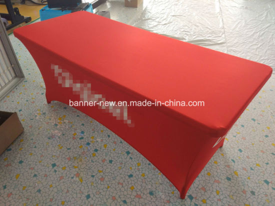 Advertising Stretch Material Printed Table Cover Table Cloth Table Cover (XS-TC41) pictures & photos