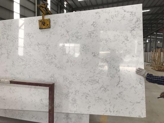 2017 Hot Sale Polished White Vein Quartz Stone Slabs