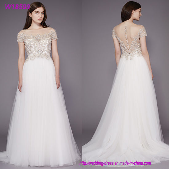 China 2018 off-Shoulder Ball Gown Plus Size Bridal Wedding Dresses ...