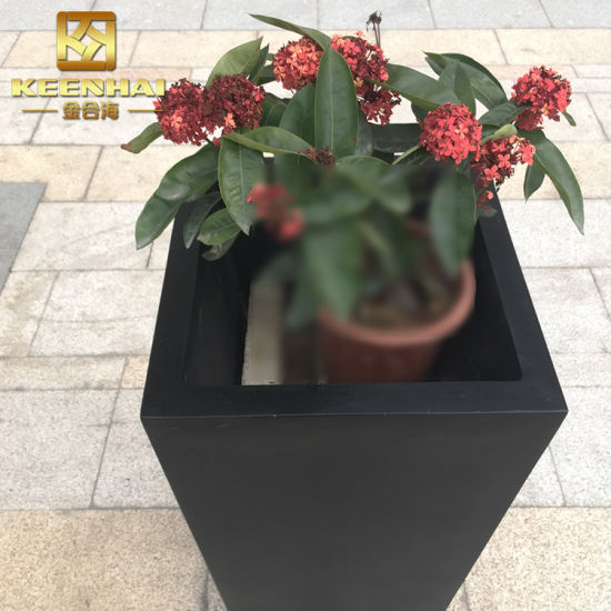 China Outdoor Stainless Steel Planter Box Square Flower Pots China