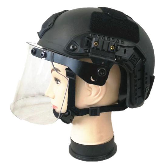 Aramid Fast Balistic Helmet with Anti Riot Visor