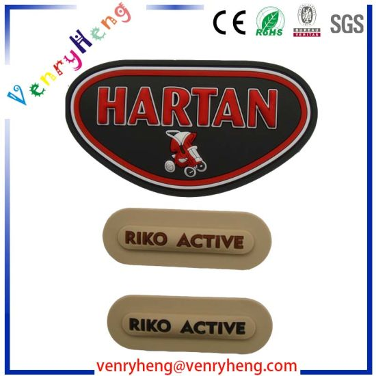 Hook and Loop Custom Logo Soft 3D PVC Patch for Rubber Patches