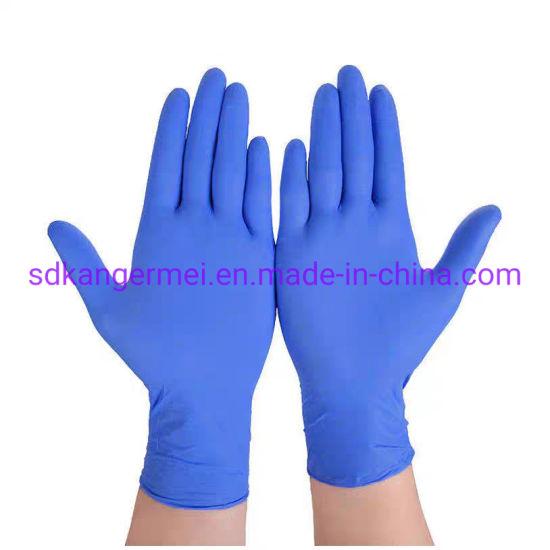 Size S-M-L-XL Blue Colour Powder Free Protective Disposable Nitrile Gloves