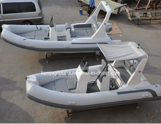 17FT Ce Approved Inflatable Boat Tender Hypalon Rib Boat
