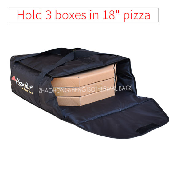 Hold 3 Bo 18 Black Insulated Thermal Pizza Carry Out Delivery Bags For Men