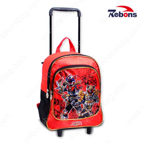 Hot Sales Trolley Cartoon Silk-Screen School Bags