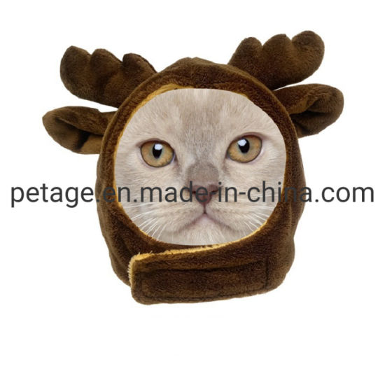 Soft Plush Cat Hats Holiday Costume Accessories Pet Clothes