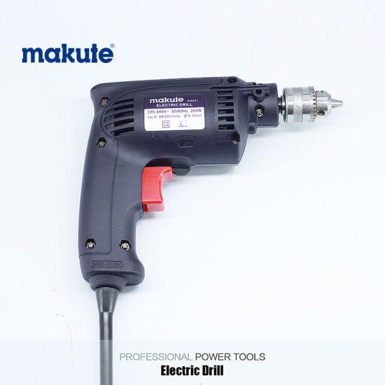 Makute 260W 6.5mm Power Tools Copper Motor Electric Drill (ED001) pictures & photos