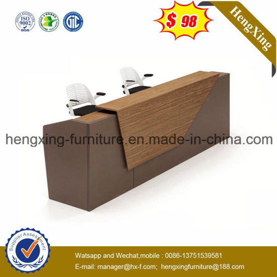 Beauty Salon Wooden Small Round Reception Table (HX-5N001) pictures & photos