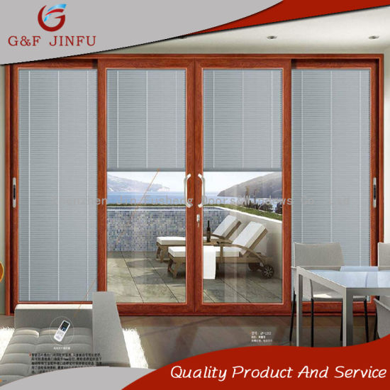 China Soundproof Interior Aluminium Glass Sliding Door with Integral ...